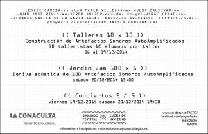 FACTO: Festival de Artefactos Sonoros 2014 @ Fonoteca Nacional