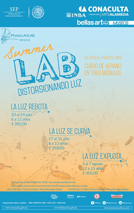 Summer Lab. Distorsionando luz @ Laboratorio Arte Alameda