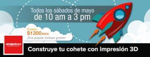 Construye tu cohete con impresión 3D @ Hacedores Makerspace y Socieldad Astronómica de México